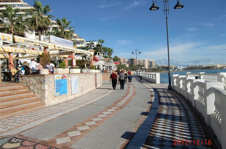 A picture from the beautiful boardwalk just a few minutes walk from the apartment