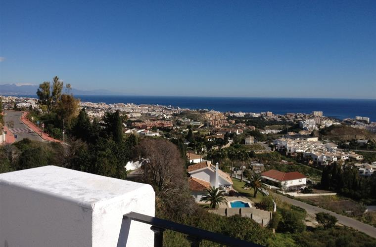 View from the Church across Benalmadena to the sea.