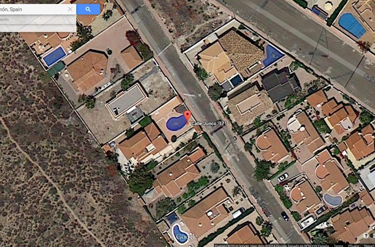 satellite view of the villa