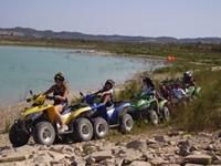 Quad bikes at lake Torremendo