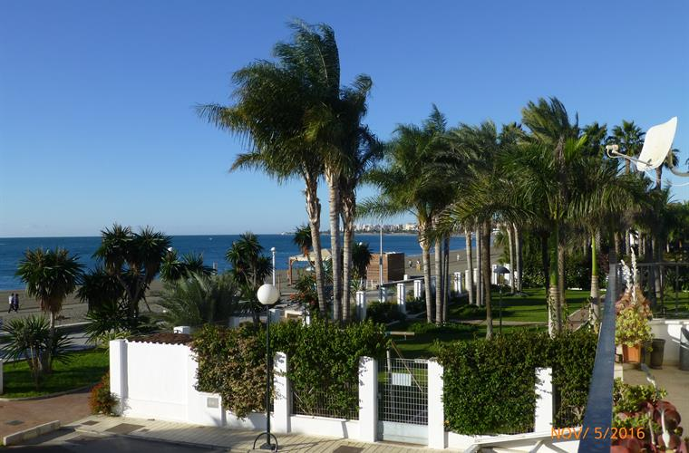view from the terrace towards Torre del Mar
