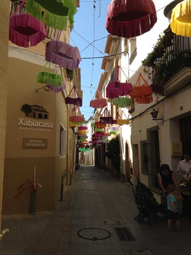 Street decoration for San Juan in Javea.