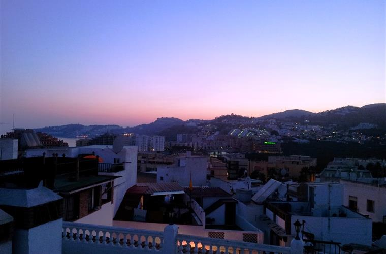 Roof terrace just after sunset