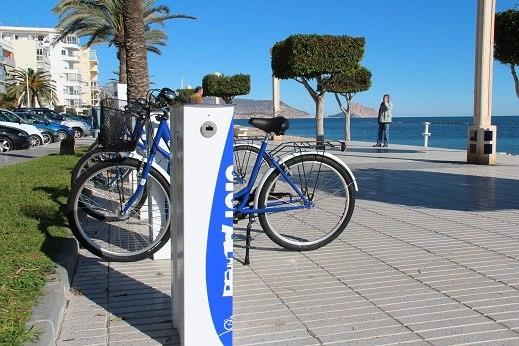 Rent a bike, public, for 3 € per day or 11 € a week.