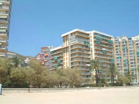 the apartment block overlooking the beach