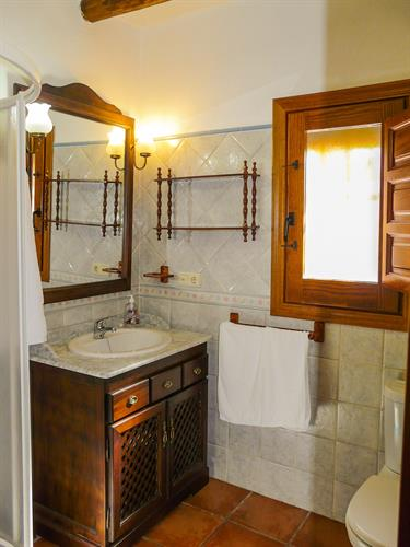 The bathroom with shower (on the left)