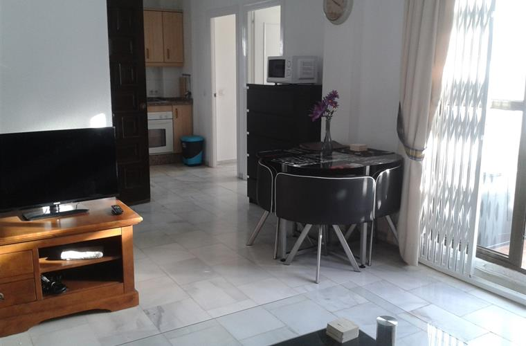 Kitchen area from lounge