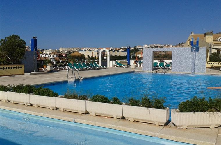 Small childrens pool with large pool