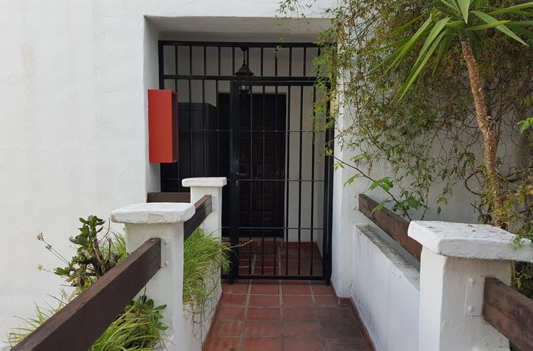 Gated front door