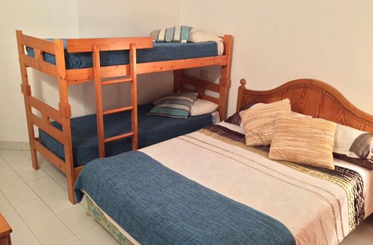 King size Bed and Bunk bed (summer bedding)