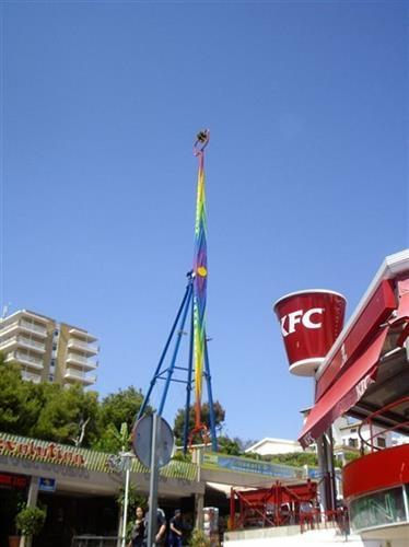 The strip Torrenova hill. There are many amusement rides