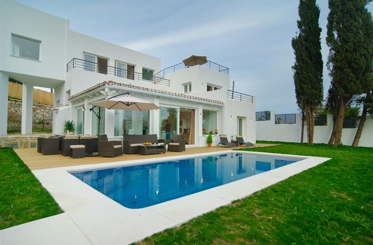 View of the 8x4 private pool and large terrace