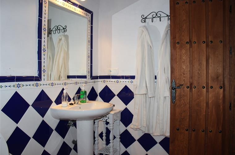 One of the 4 bathrooms in traditional Spanish style