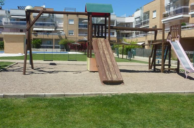 playground next to the pool