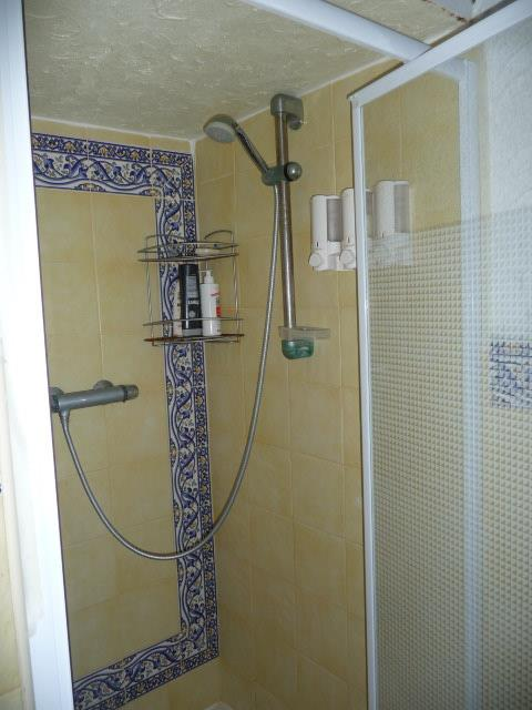 Andalucía decorated shower with glass door
