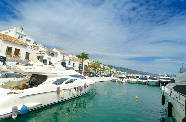 Luxury marina at the end of Puerto Banus