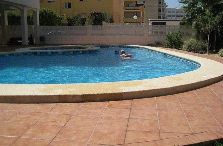 Clean pool with children small pool