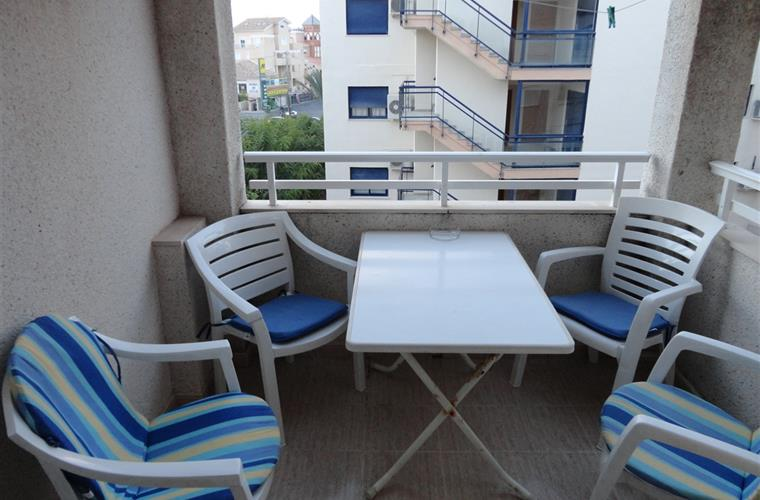Functional balcony with retractable clothes line