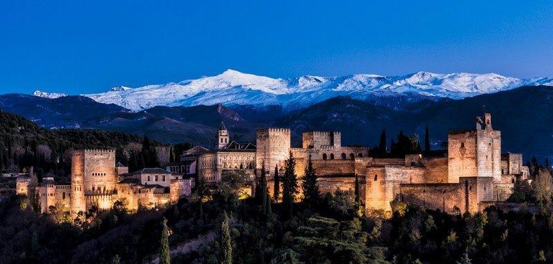 Granada, Alhambra, 1 hour away.