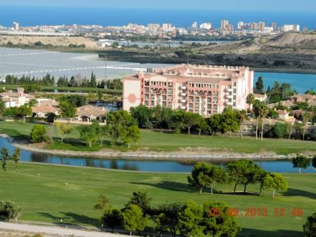 View from sun terrace over golf course towards El Campello