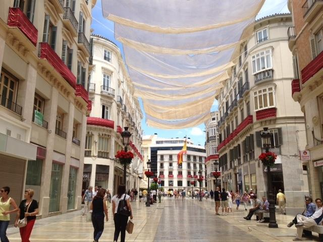 "SUN PROTECTION""ROOF""- SUMMER ON MAIN STREET CALLE LARIOS - MALAGA"