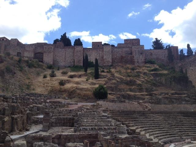 ANCIENT ROMAN THEATRE ON THE FOOT OF THE ARABIC FORT OF GIBRALFARO