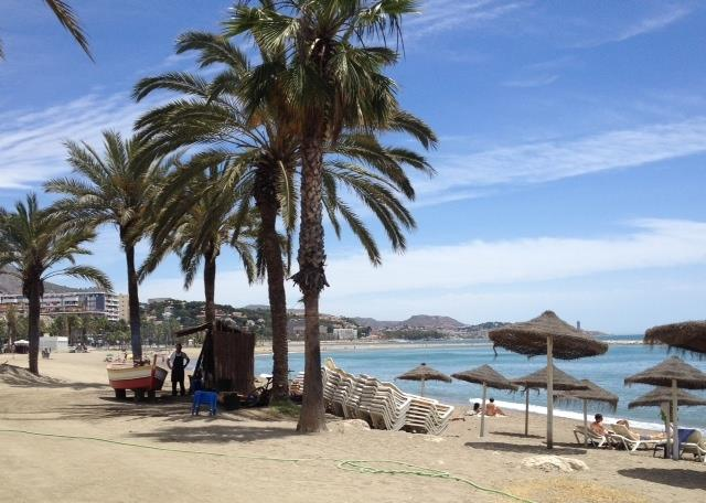 BEACH - WITH FISH RESTAURANTS AND SUN - MALAGA