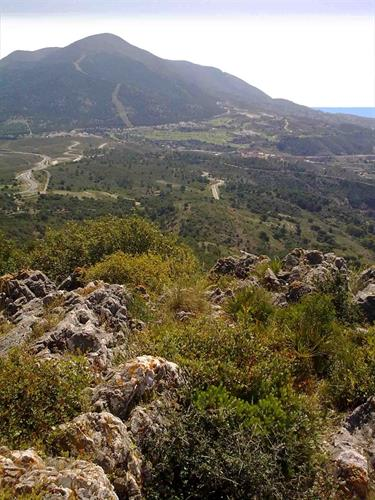 Location of Alhaurin Golf next to the Sierra de Mijas