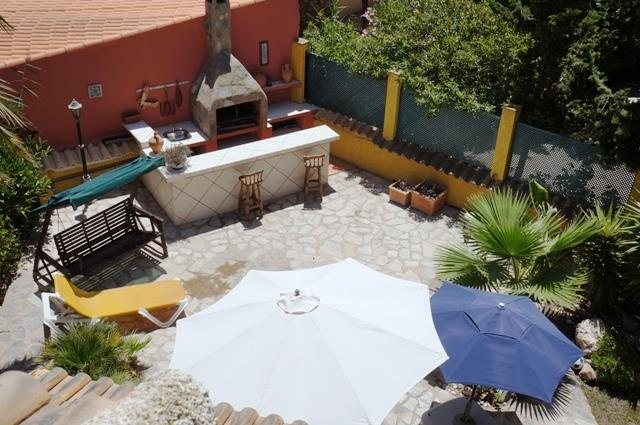 Arial View of Kitchen Terrace
