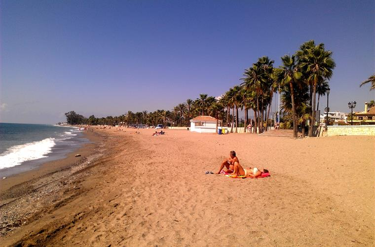 The beach at San Pedro