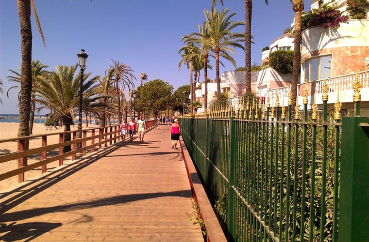 The beachside walkway to Puerto Banus
