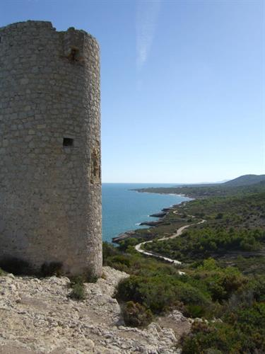 The old watchtower at Torre Badum is a popular attraction.