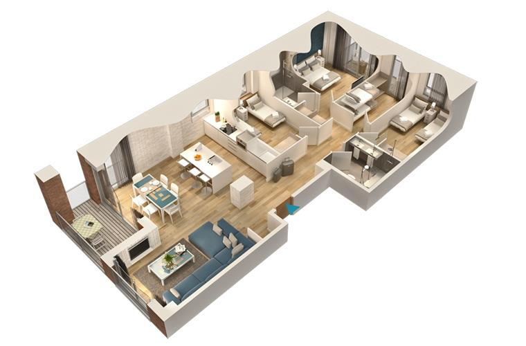 3D Map of the Apartment