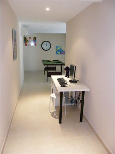 Games Room Hallway with Computer and Internet