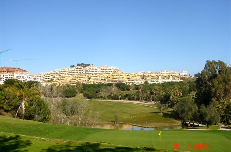 The apartment seen from Torrequebrada (hole 17).