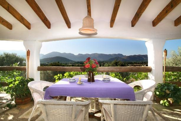 Beautiful views from the wide covered terrace!