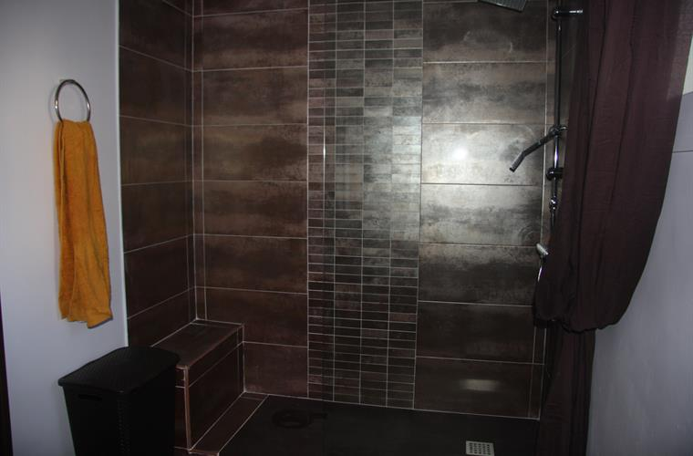 Upstairs remodeled bathroom, shower, 2 of 3