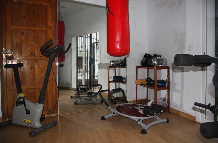 Last view of the gym, with several equipment to work out & boxing
