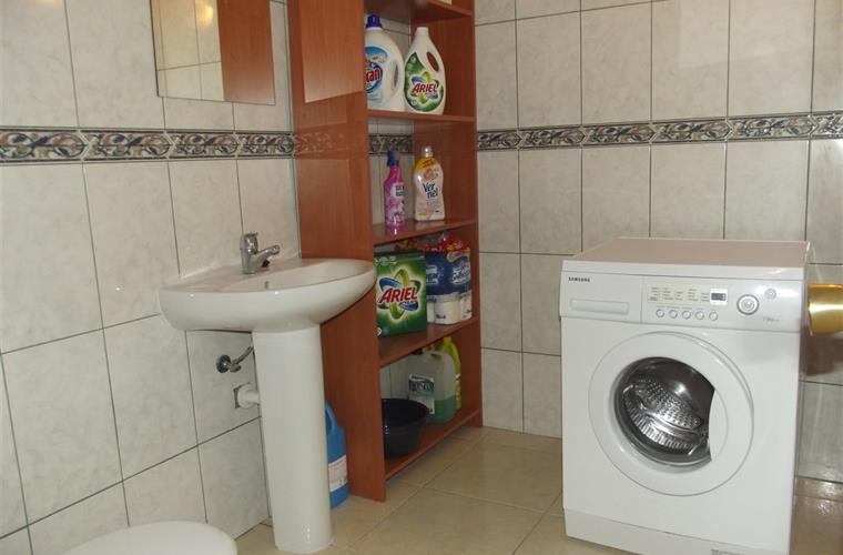 Washing Room with Wash Machine and WC
