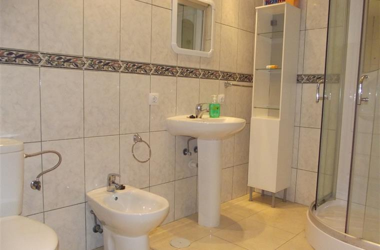 Bathroom in the Lower Floor- WC Bidet and Shower Cabine Incl Radio