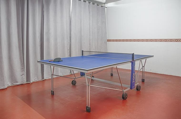 Ping pong table in games room