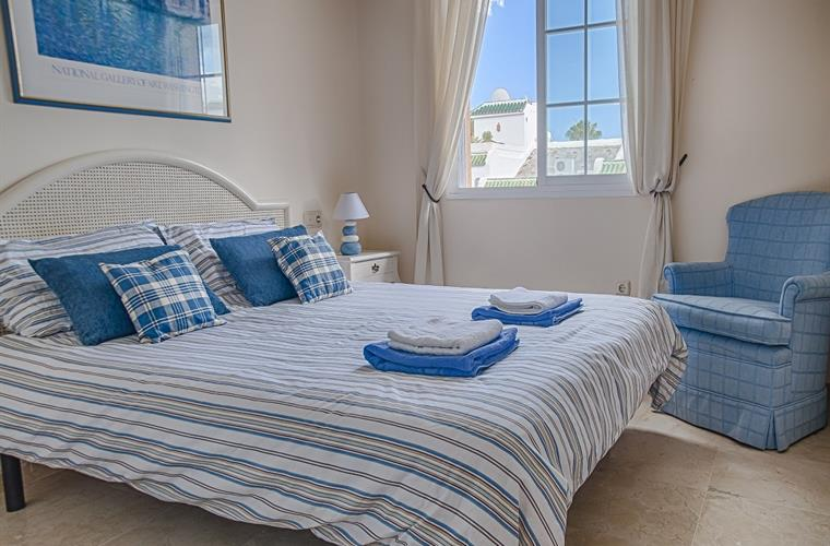 Queen bedroom with sea views
