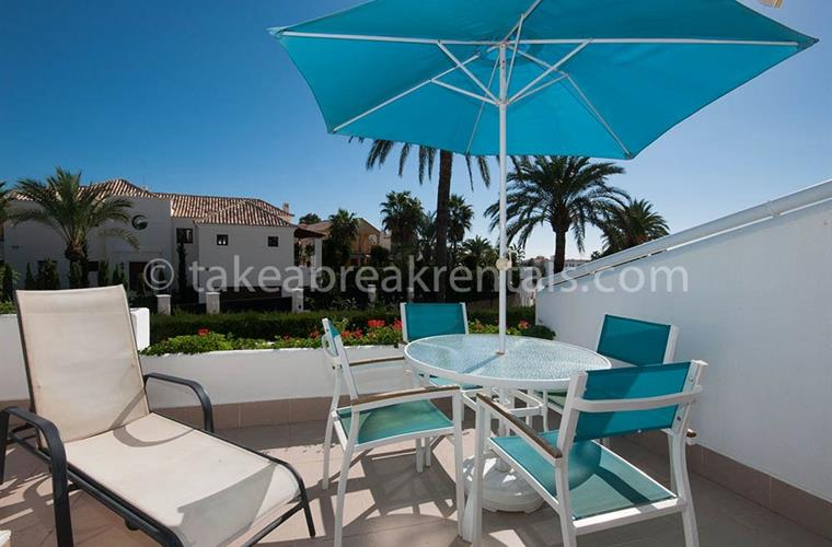 Terrace holiday apartment rental Costa del Sol