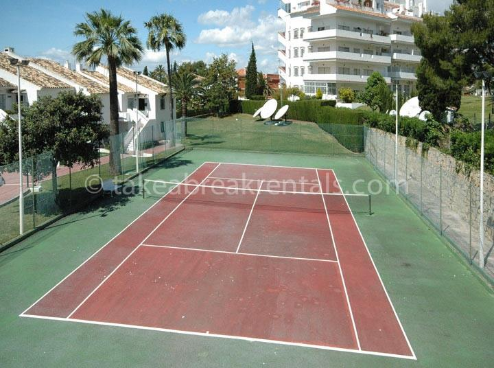 Tennis court in Andalucia Garden Club