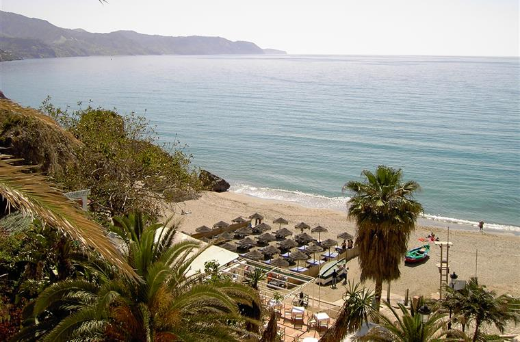 One of Nerja's beaches