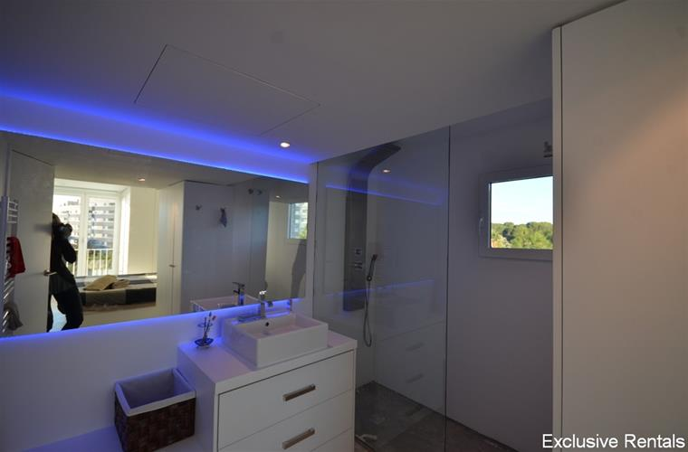integrated bathroom in the main bedroom