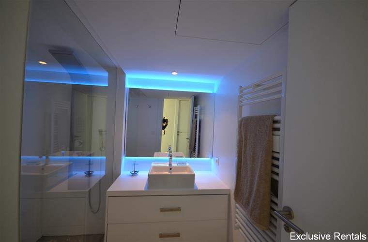 shower room with led lights