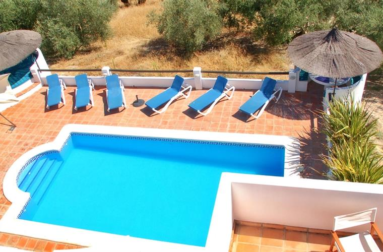 Pool from Third Double Bedroom Terrace