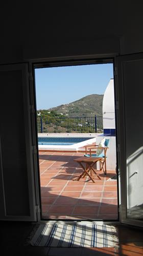 View from Master Bedroom via patio doors