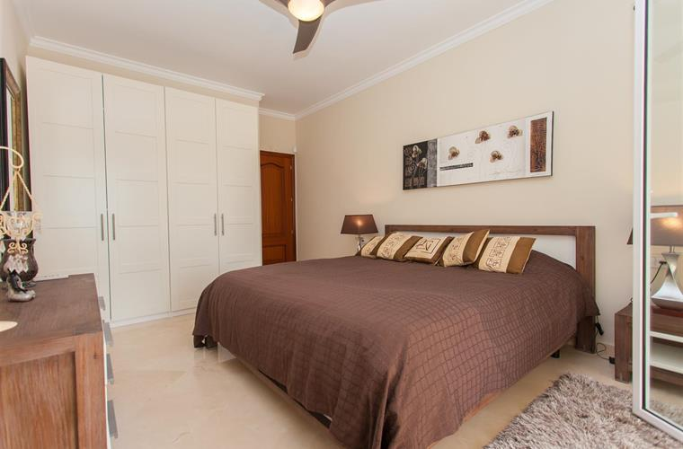 Lovely bedroom wit large double bed.